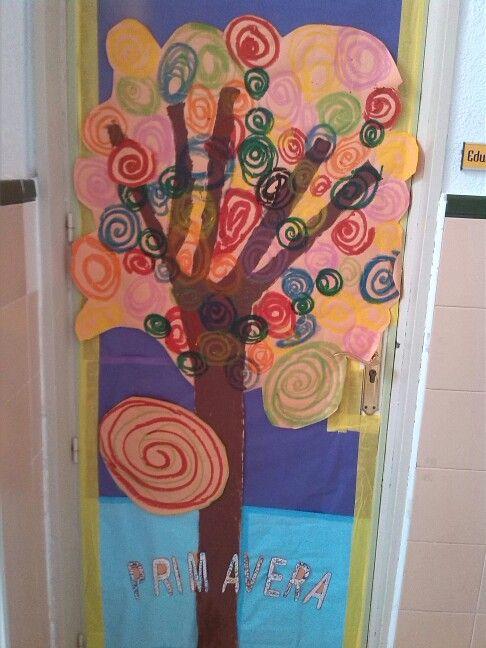 Primavera puertas 9 imagenes educativas for Puertas decoradas con payasos