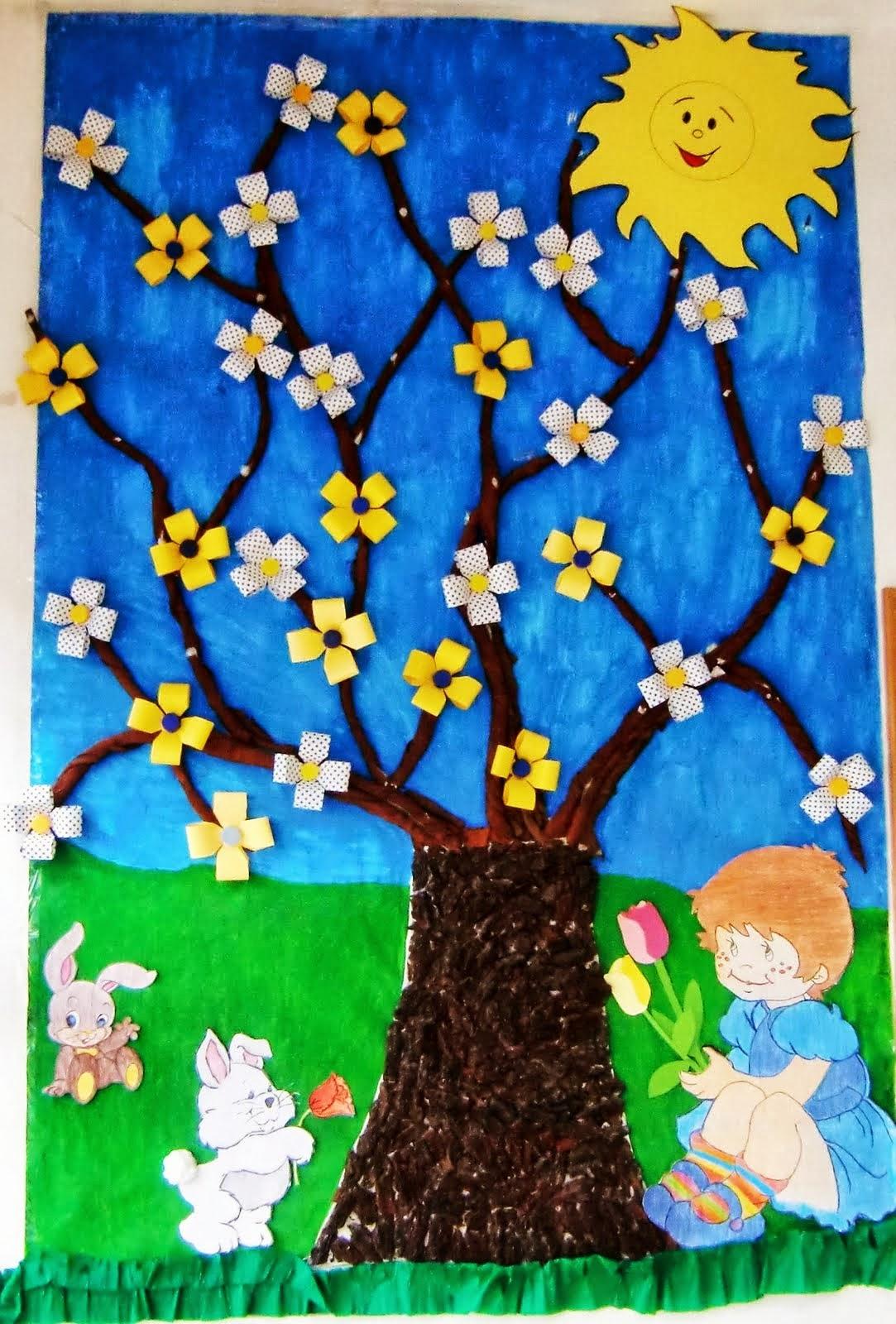 Puertar decorar clase 12 imagenes educativas for Murales infantiles para preescolar