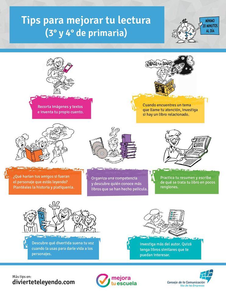 Tips para mejorar tu lectura 3 y 4 de primaria for Consejos para amueblar tu casa
