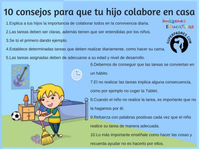 10 consejos para que los niñ@s colaboren en casa