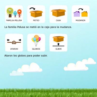 Cuentos con pictogramas #TEA ACNEAE LAS PELUSAS SE MUDAN DE CASA 12