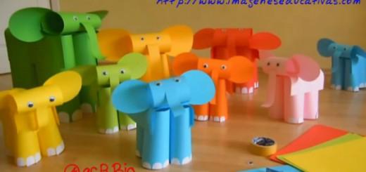 Elefantes con folios de colores Portada