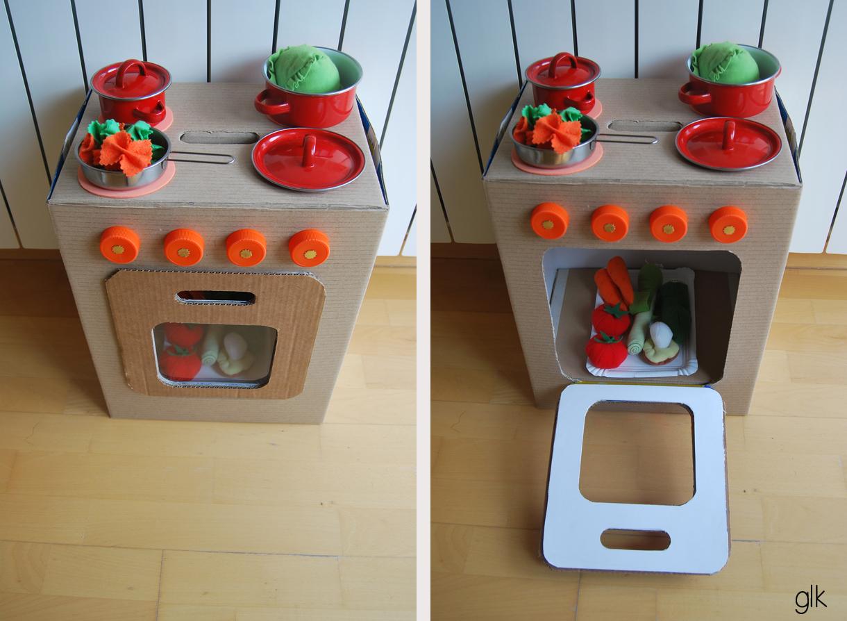 Juguetes reciclados con cajas de carton 5 imagenes - Hacer cocinita de juguete ...