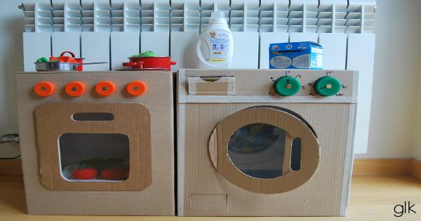 Juguete Juguete Material Reciclado Como Hacer Una Cocina De Juguete