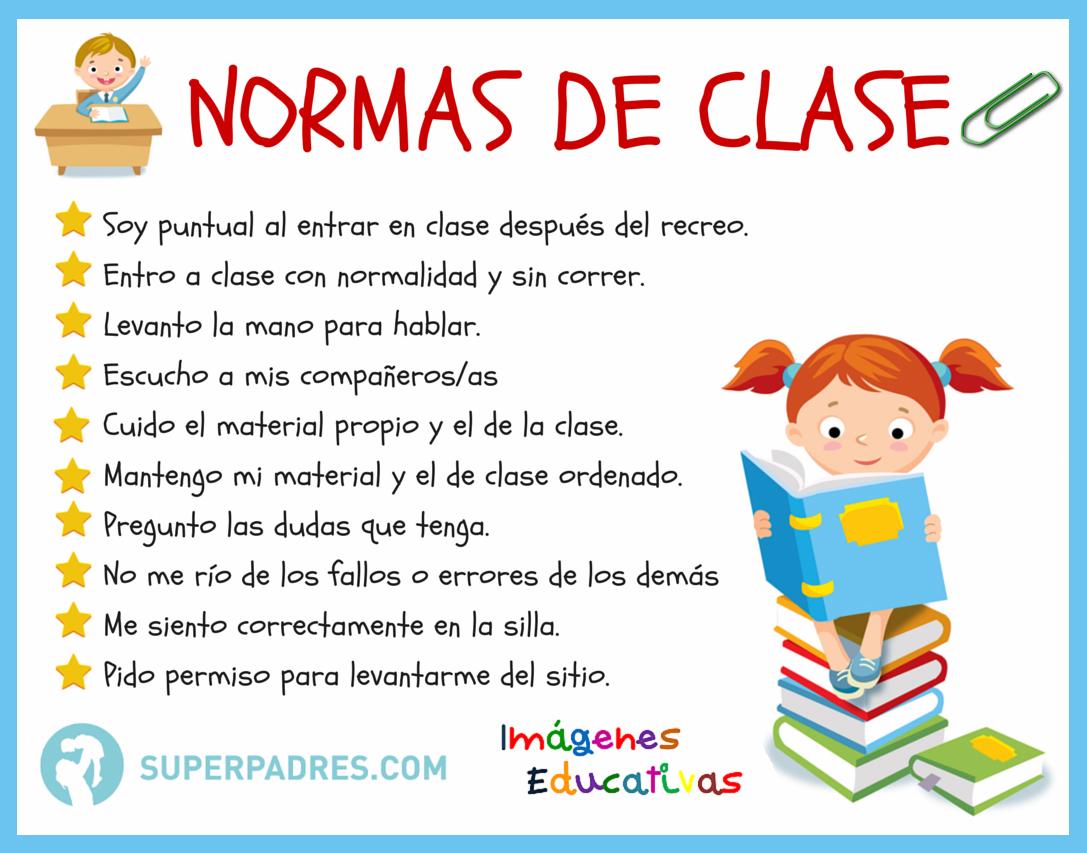 Normas de la clase imagenes educativas for Actividades en el salon de clases