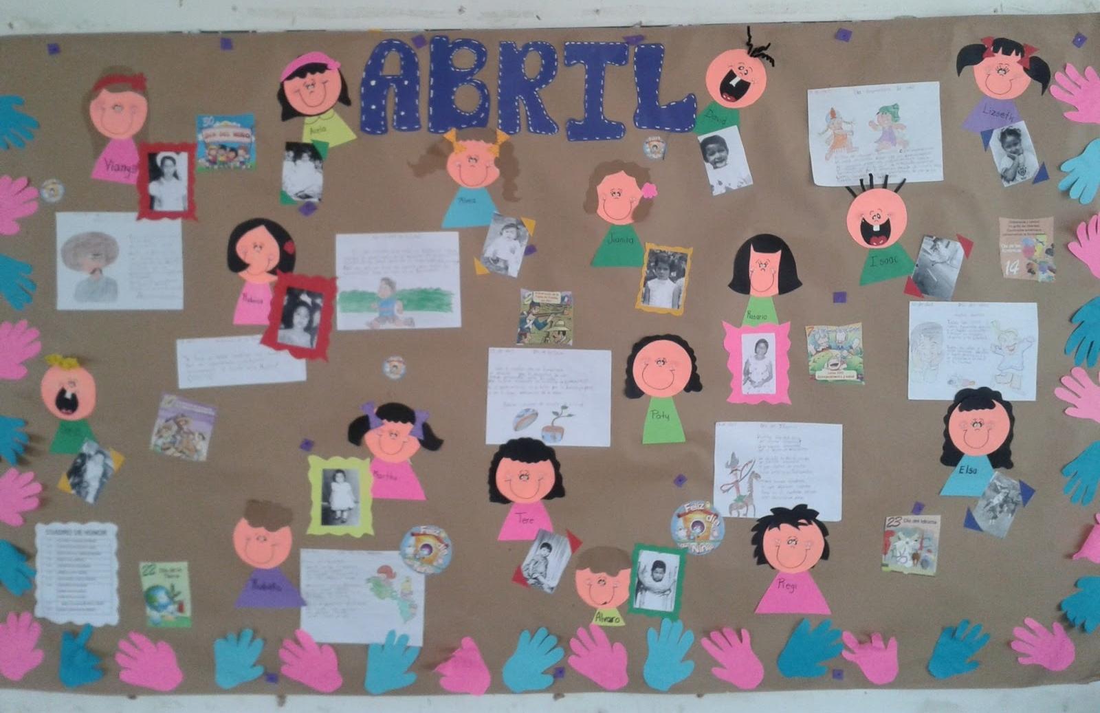 Periodico mural mes de abril 4 imagenes educativas for Como decorar un mural