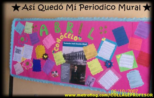 Periodico mural mes de abril 7 imagenes educativas for Como elaborar un periodico mural