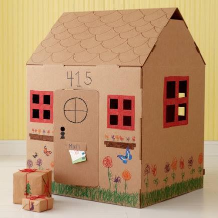 Casas de cart n 11 imagenes educativas - Como hacer una casa de carton pequena ...