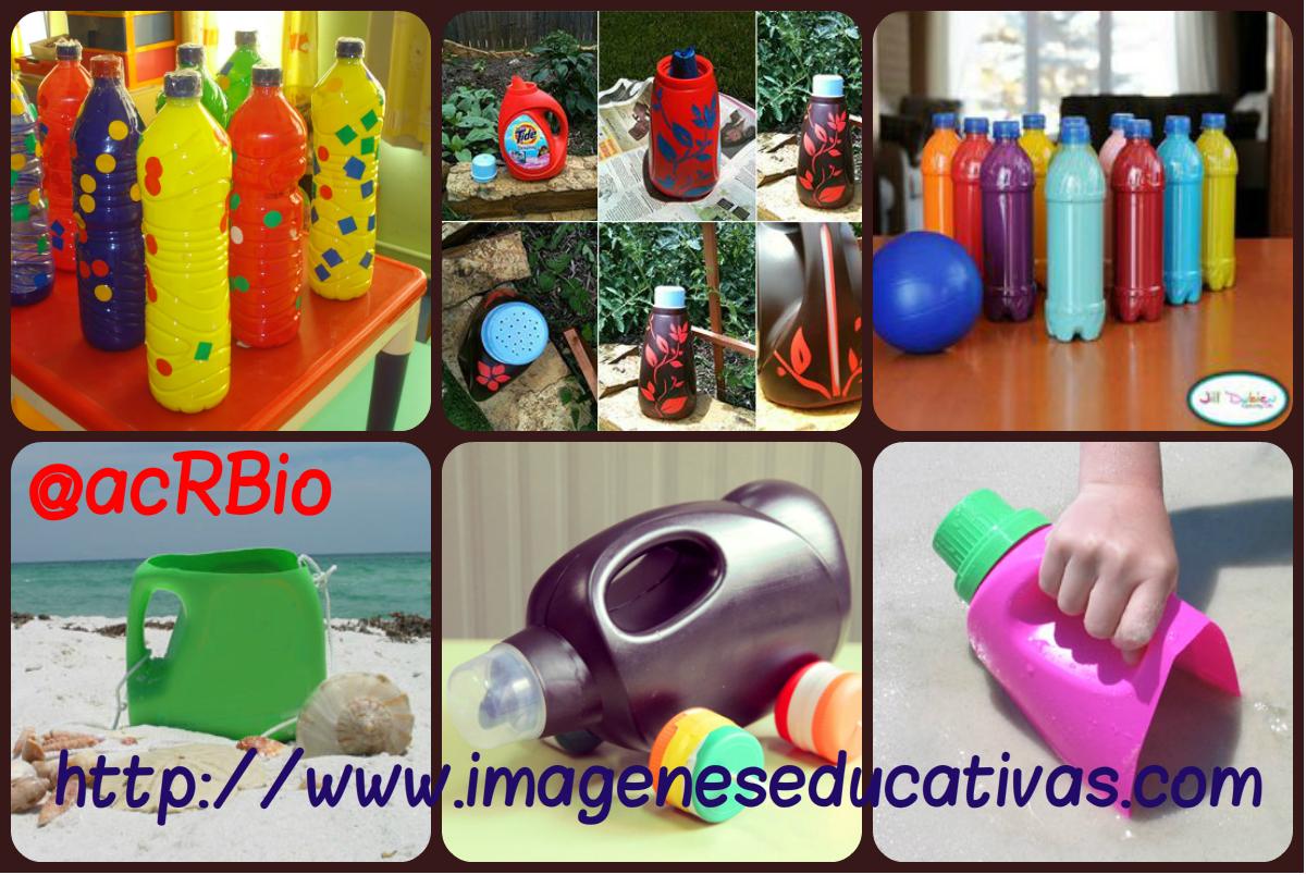 Juguetes reciclados para la playa y el jard n collage 2 for Juguetes de jardin
