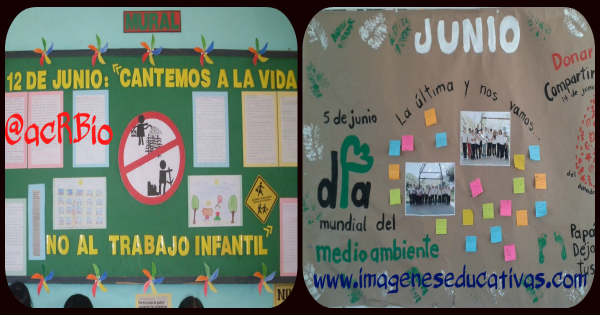 ideas para el PERIÓDICO MURAL de JUNIO mes del Medio Ambiente