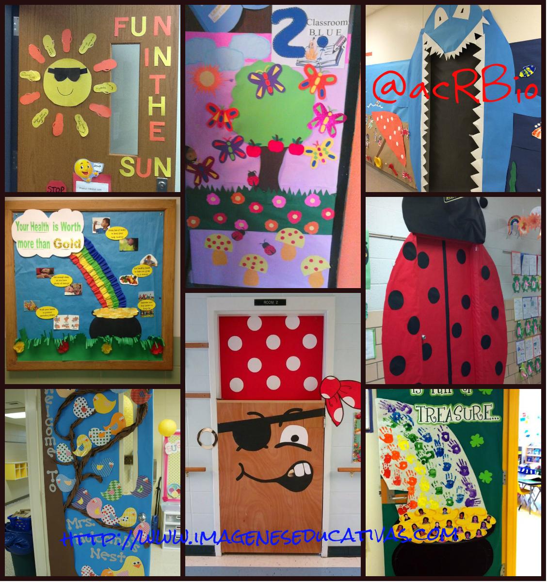 Collage puertas clase 100 imagenes educativas for Puertas decoradas para regreso a clases