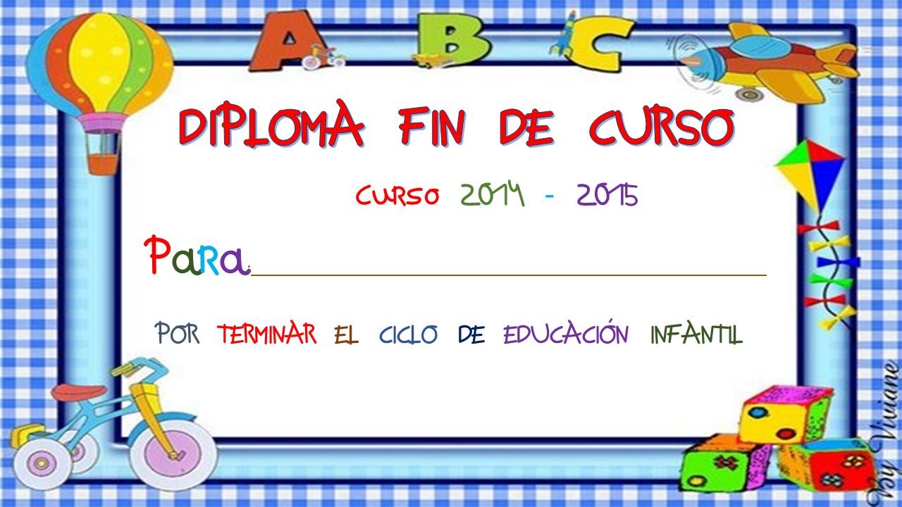 Diplomas fin de curso (13) - Imagenes Educativas