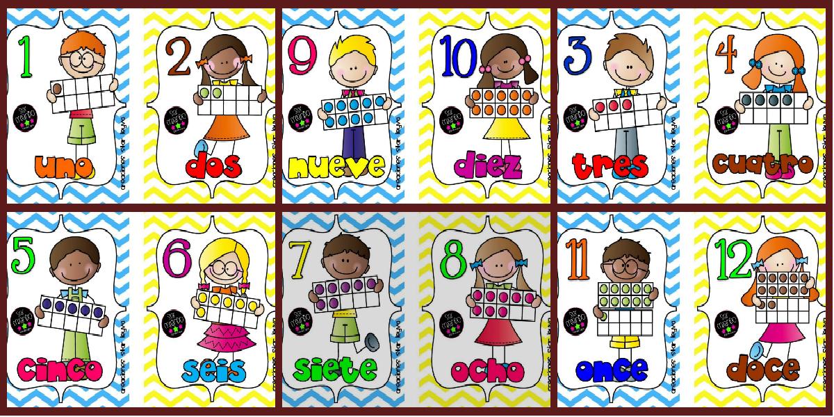Un Paquete Imprimible De Tarjetas Para Aprender Los Números Del 1