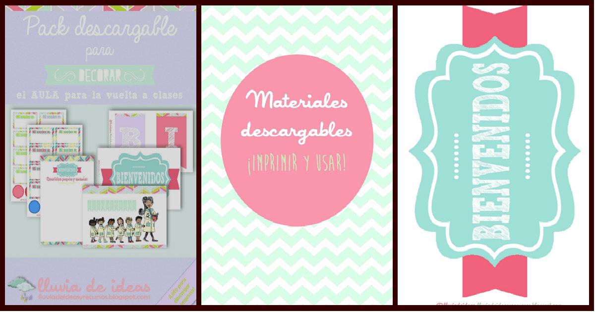 Descargables pack para decorar el aula para la vuelta a for Decoracion aula primaria