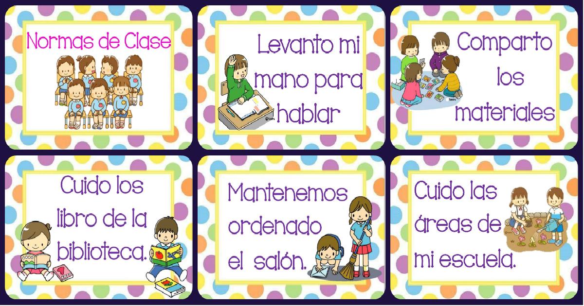 Normas de clase o sal n motivo furima portada imagenes for 5 reglas del salon de clases