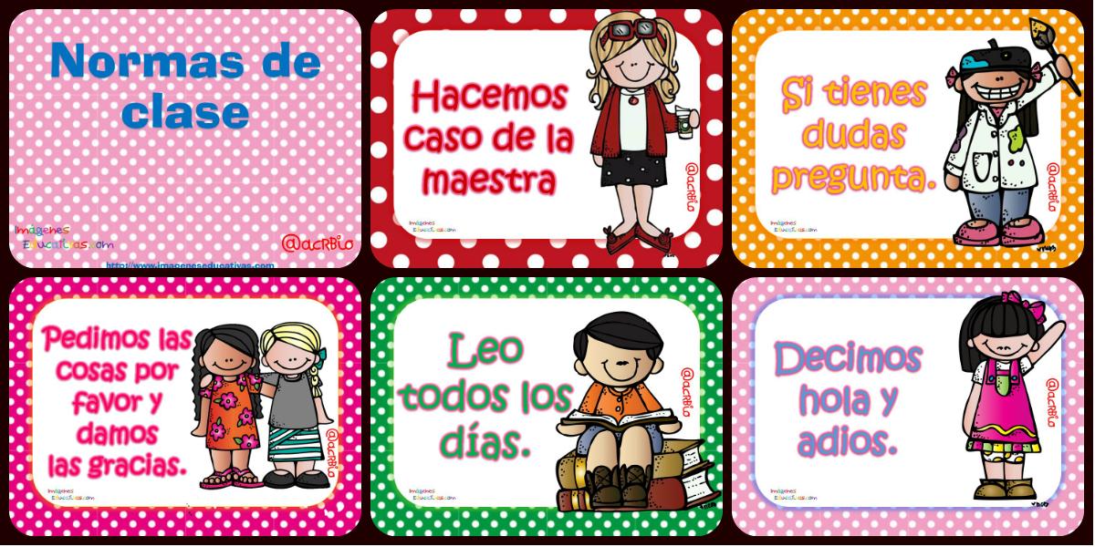Normas de comportamiento en el aula y sal n imprimibles for Actividades para el salon de clases de primaria