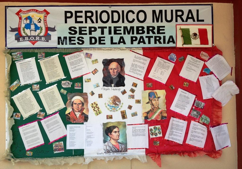 Peri dico mural mes septiembre 15 imagenes educativas for Componentes de un periodico mural