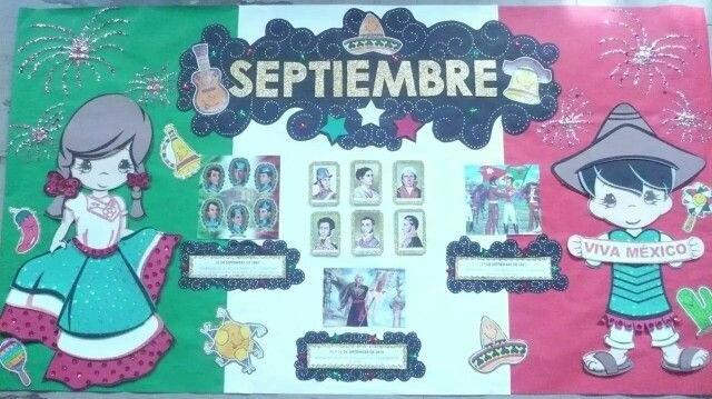 Peri dico mural mes septiembre 2 imagenes educativas for Puertas decoradas para el 16 de septiembre