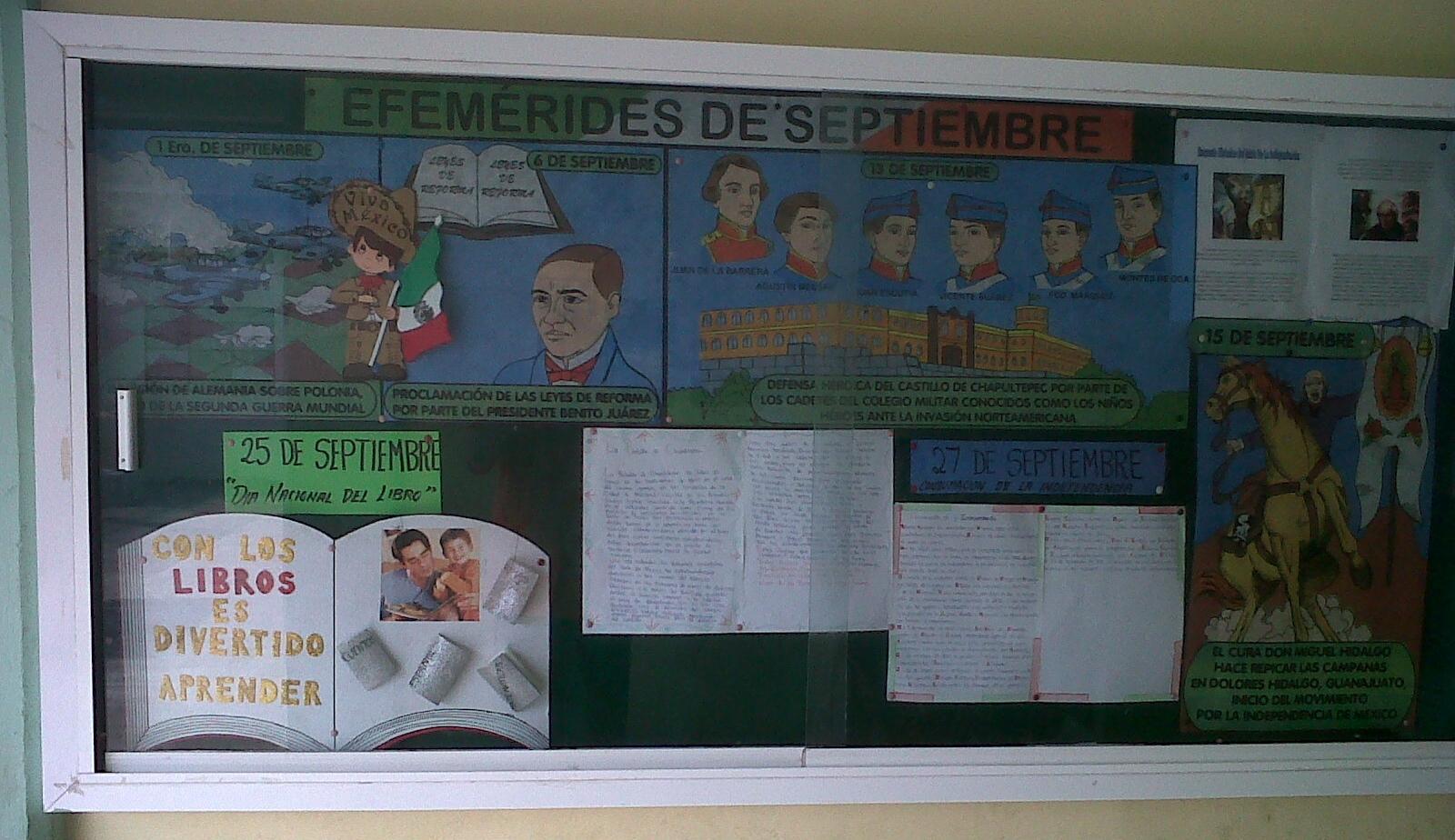 Peri dico mural mes septiembre 10 imagenes educativas for Estructura del periodico mural