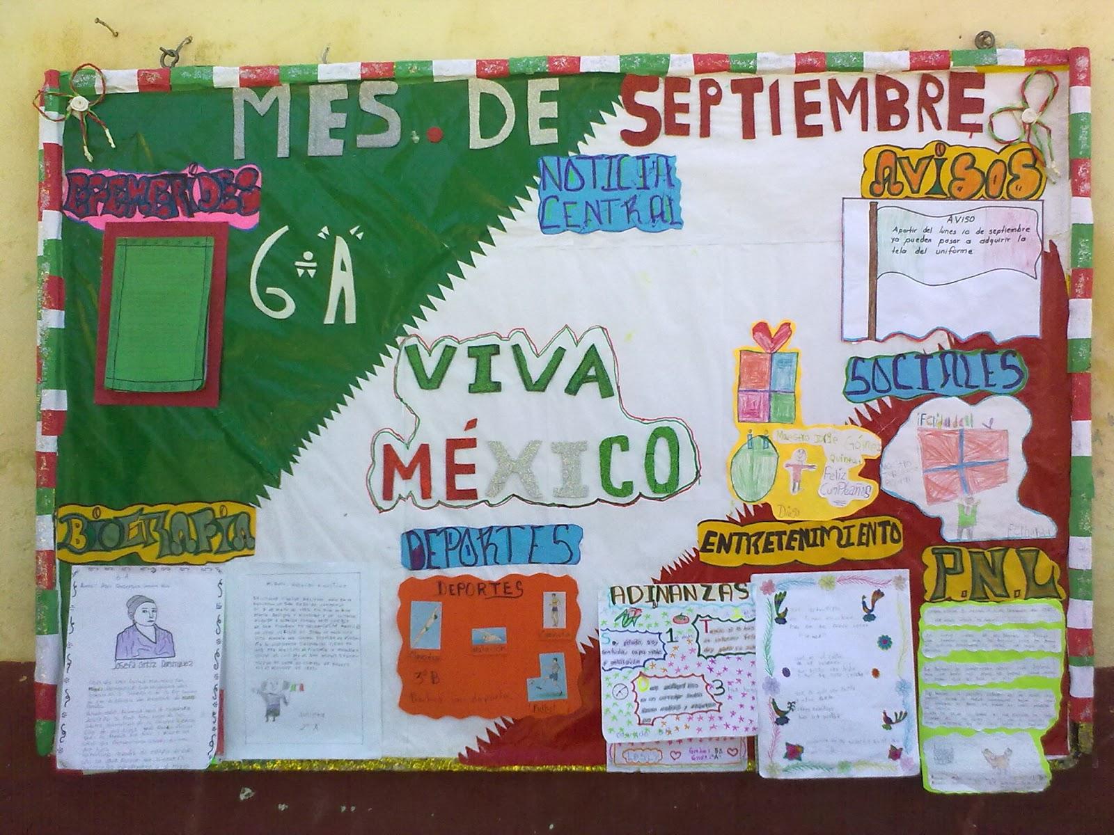 Peri dico mural mes septiembre 4 imagenes educativas for Como elaborar un periodico mural escolar