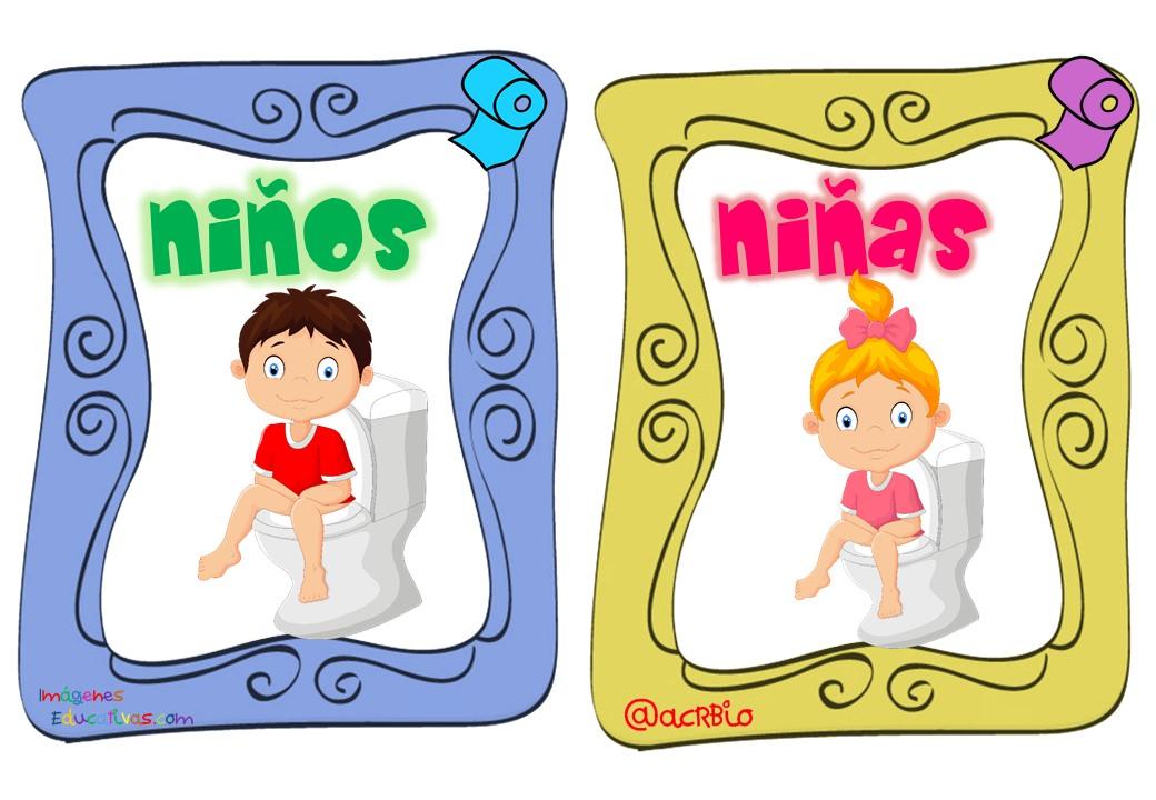 Salida De Baño Ninos Moldes:Permisos para ir al baño tarjetas imprimibles (28) – Imagenes