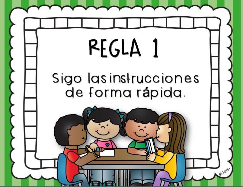 Reglas de clase 3 1 imagenes educativas for 10 reglas del salon de clases en ingles