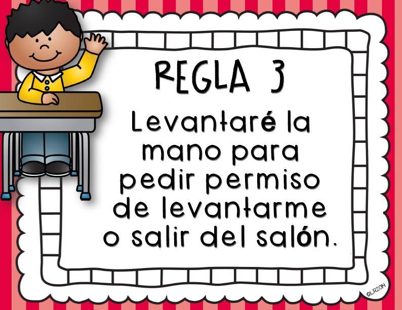 Reglas de clase 5 imagenes educativas for 5 reglas del salon de clases