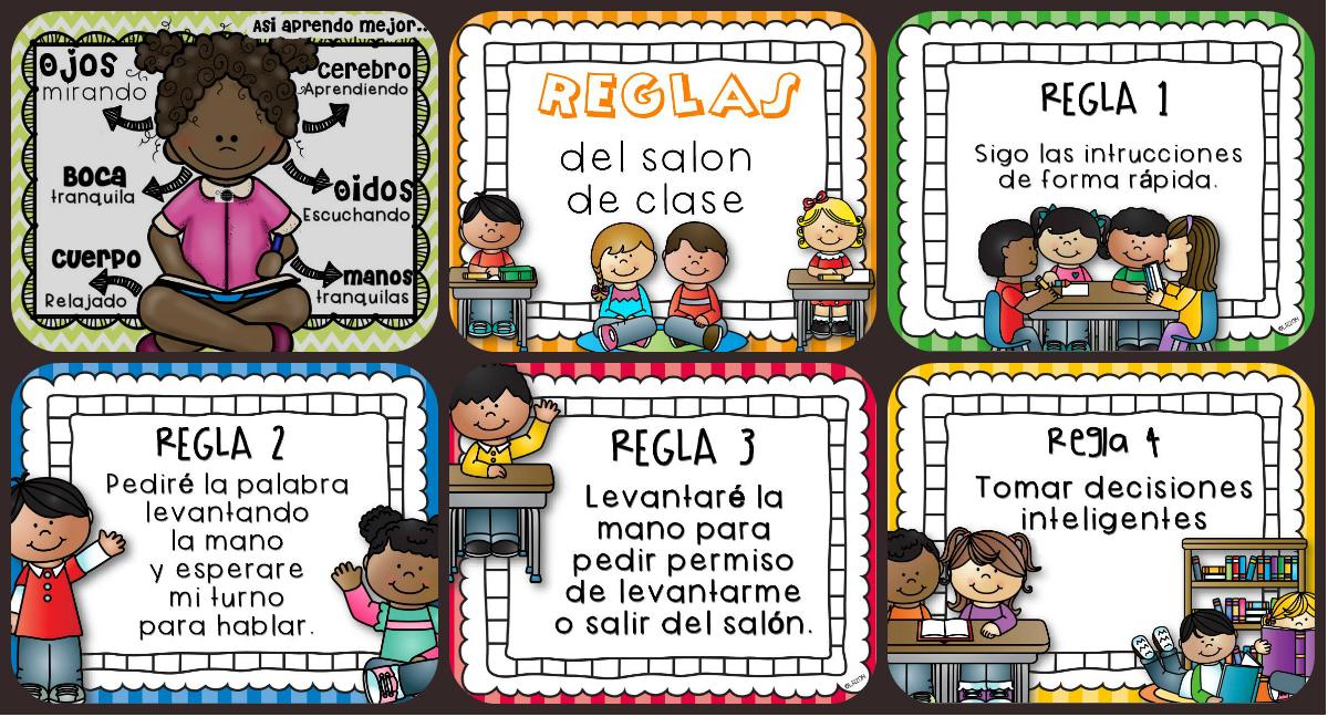 Nuevas normas para nuestra clase o sal n preescolar y for 10 reglas del salon de clases en ingles