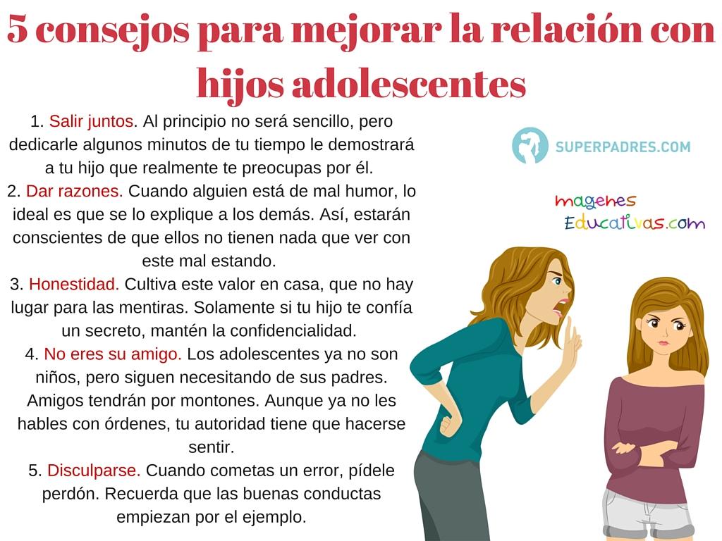 5 consejos para mejorar la relaci n con hijos adolescentes imagenes educativas - Como tratar la bulimia en casa ...