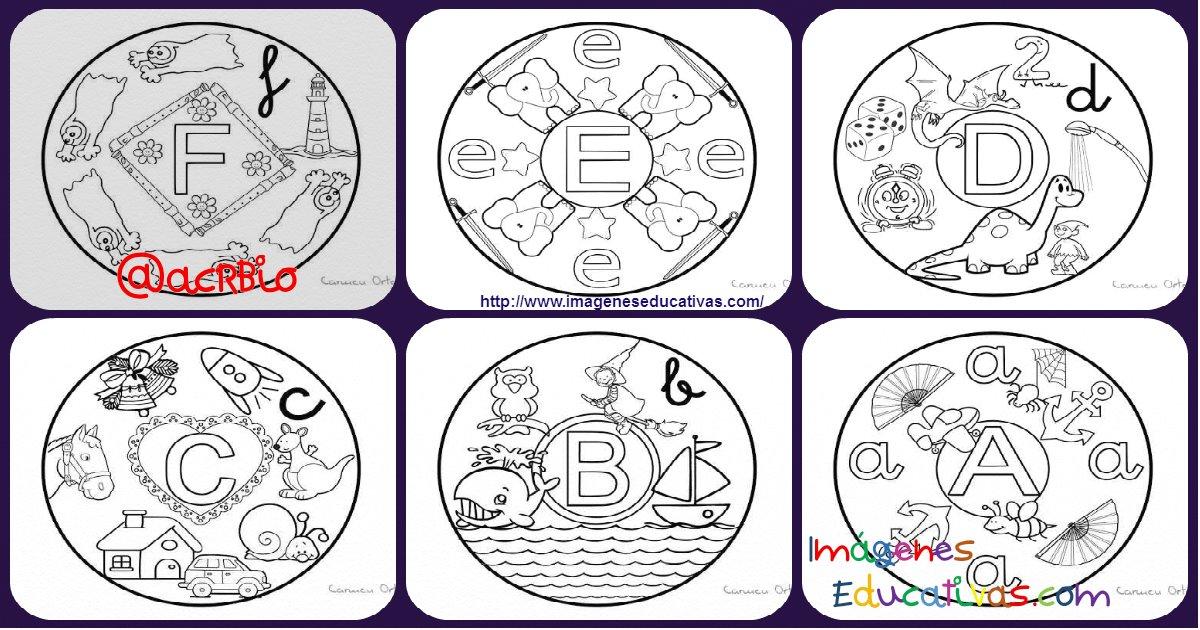 Dibujos Para Imprimir Y Colorear De Mandalas: Abecedario De Mandalas Para Colorear. Listo Para Descargar