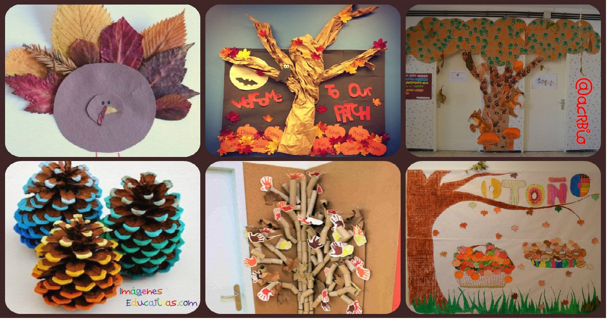 S per colecci n con decoraciones de oto o rincones - Decoracion de otono ...