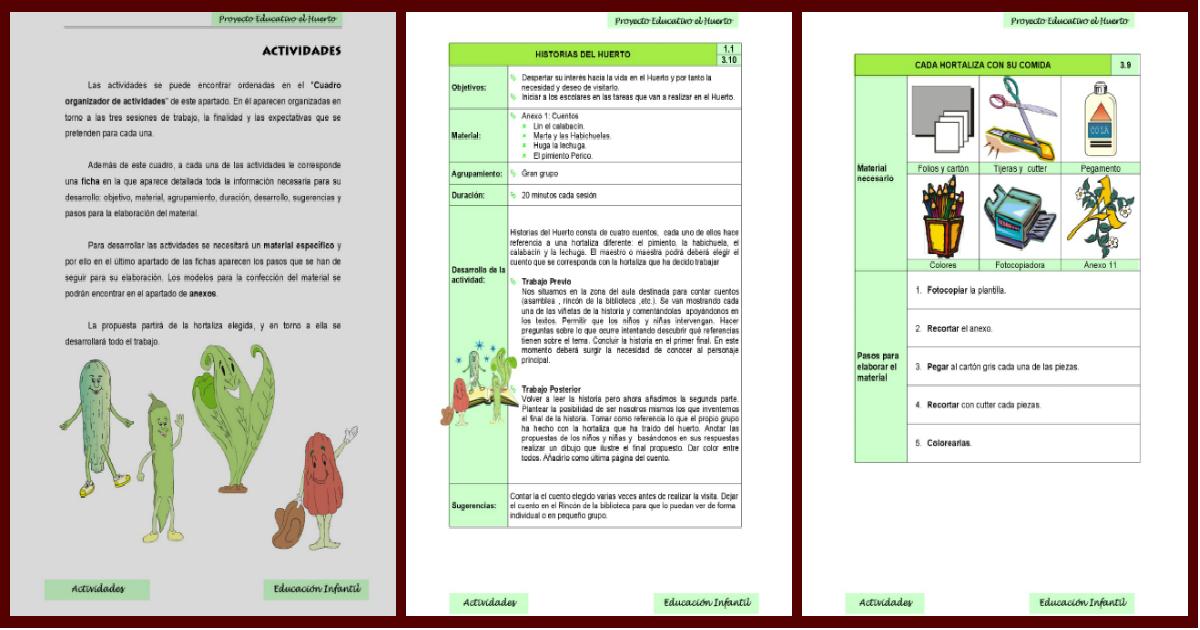nuestro proyecto educativo para el nuevo ciclo el huerto