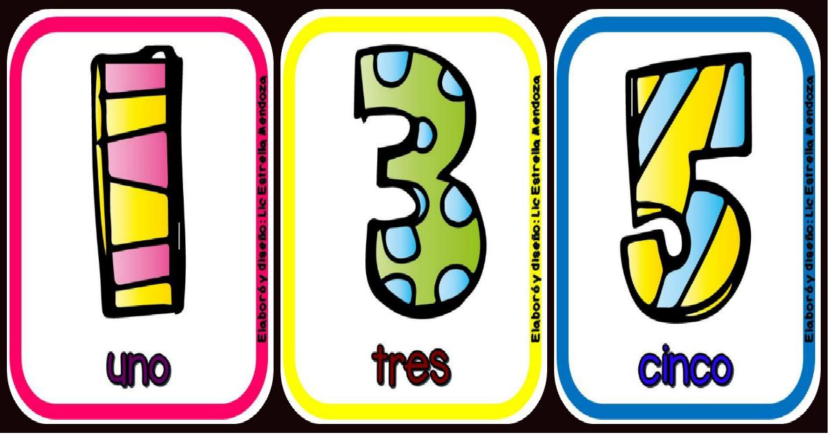 Números 1 Al 10 Tarjetas Para Imprimir Imagenes Educativas