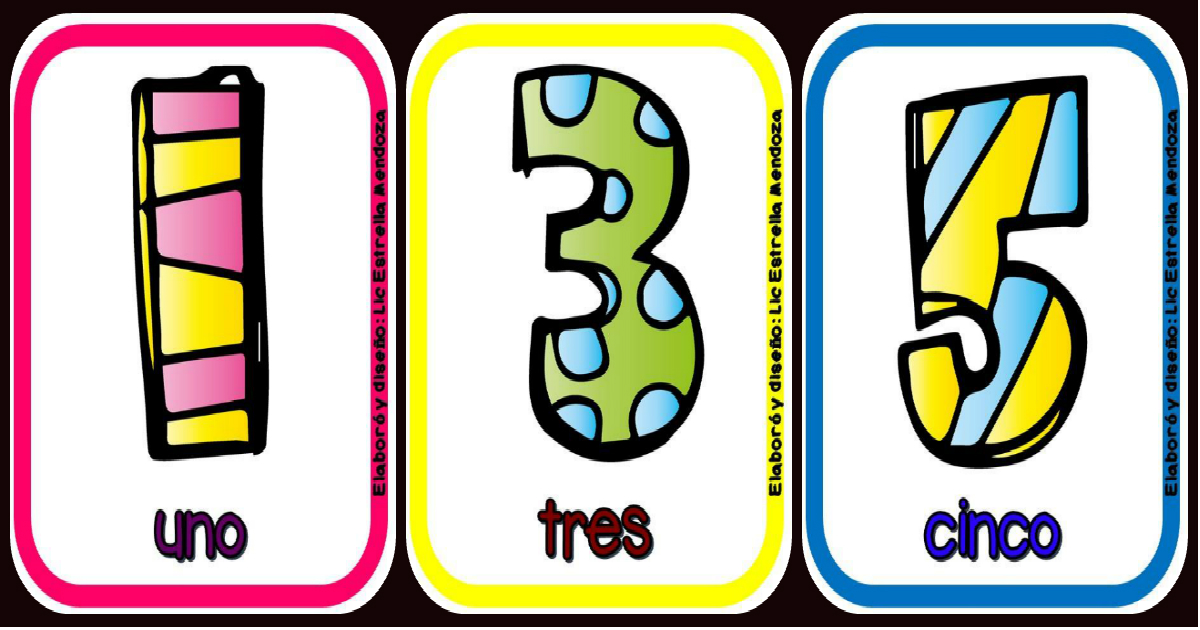 Números 1 Al 10 Tarjetas Para Imprimir.