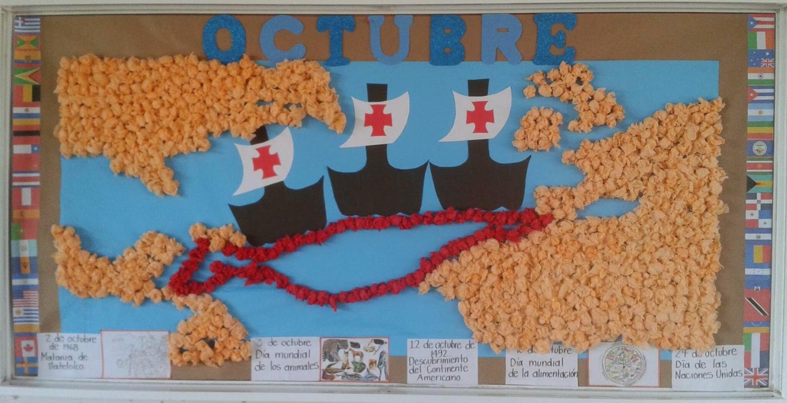 Periodico mural octubre 16 imagenes educativas for Diario mural en ingles