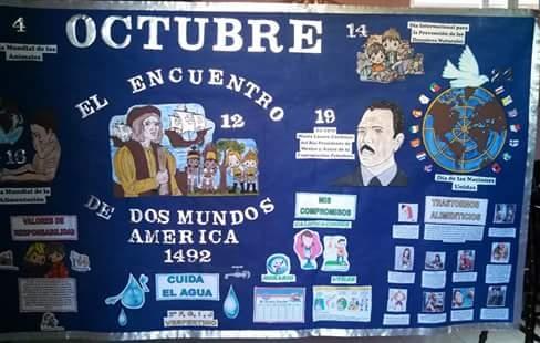 Periodico mural octubre 9 imagenes educativas for El periodico mural y sus secciones