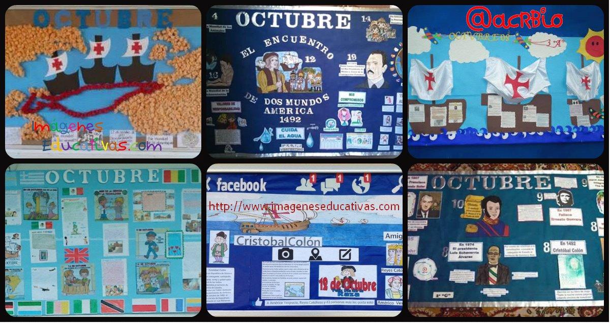 Periodico mural octubre portada 0 imagenes educativas for Diario mural en ingles