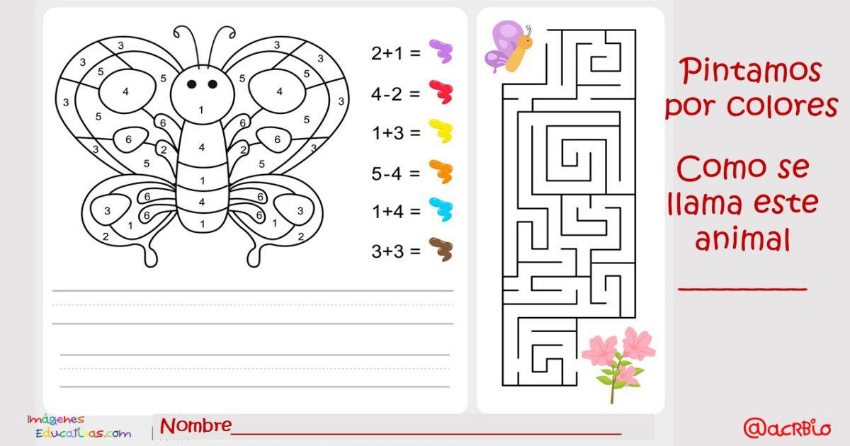 Pintamos Por Colores Y Números Actividades Matemáticas Para