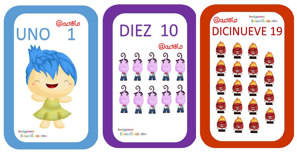 Tarjetas de Números Inside Out 1-20 Portada - Imagenes Educativas