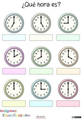 Trabajamos las horas imagenes educativas - Tiempo en puertollano por horas ...