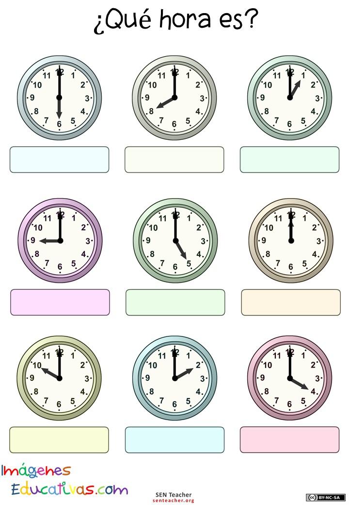 Trabaja las horas y los relojes 4 imagenes educativas - Tiempo en puertollano por horas ...