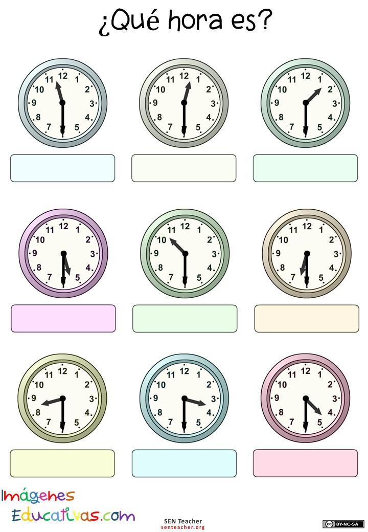 Trabaja Las Horas Y Los Relojes 8 Imagenes Educativas