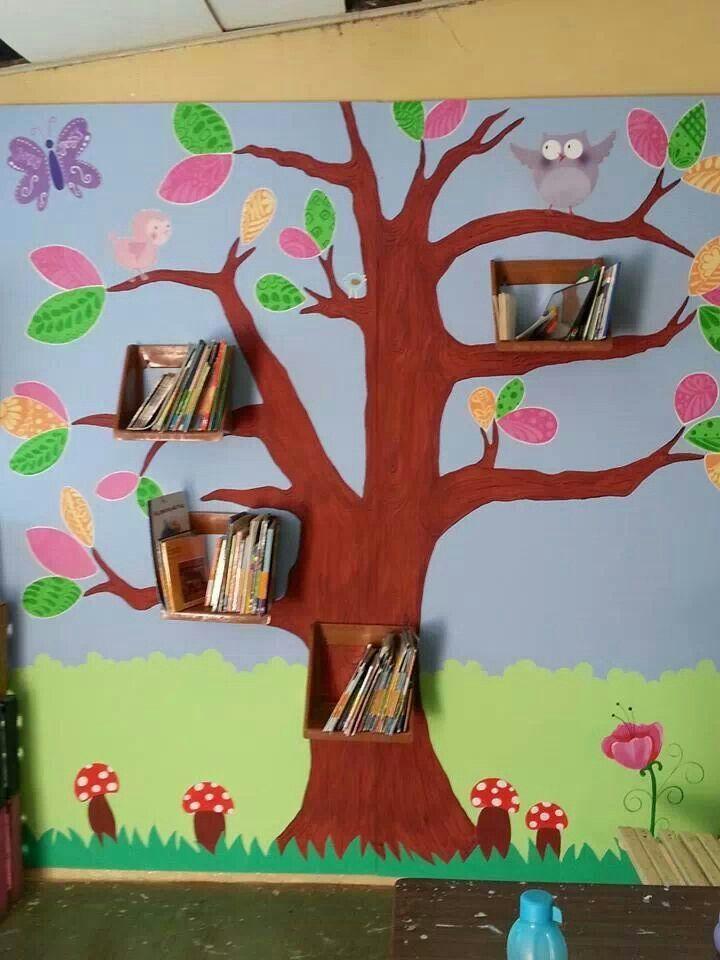 Biblioteca de aula o sal n 8 imagenes educativas for Decoracion de espacios de preescolar