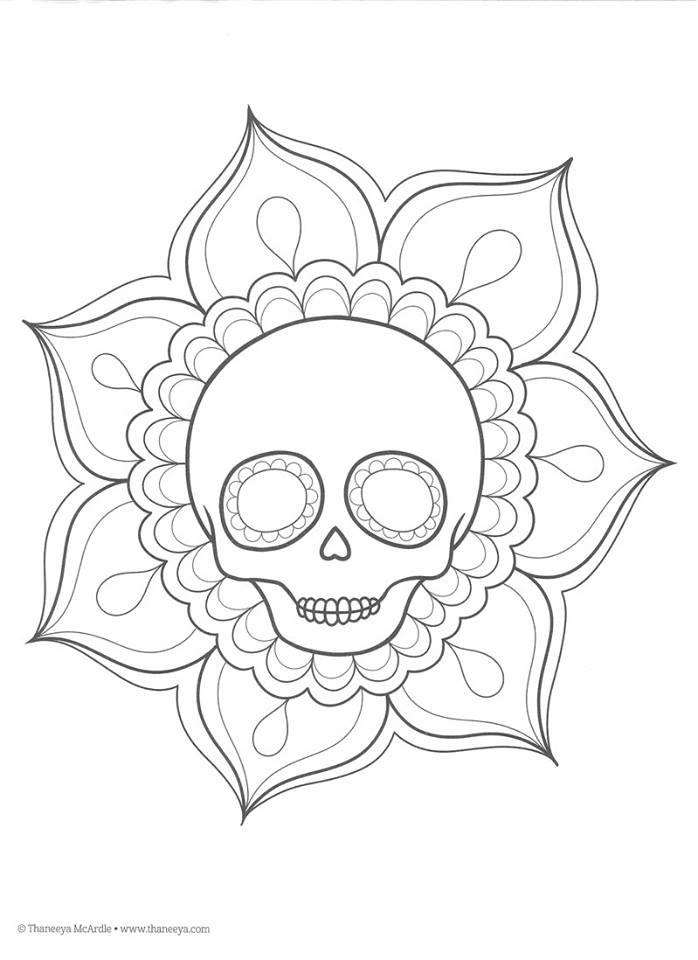 Dibujos para colorear el día de los muertos (15 ...