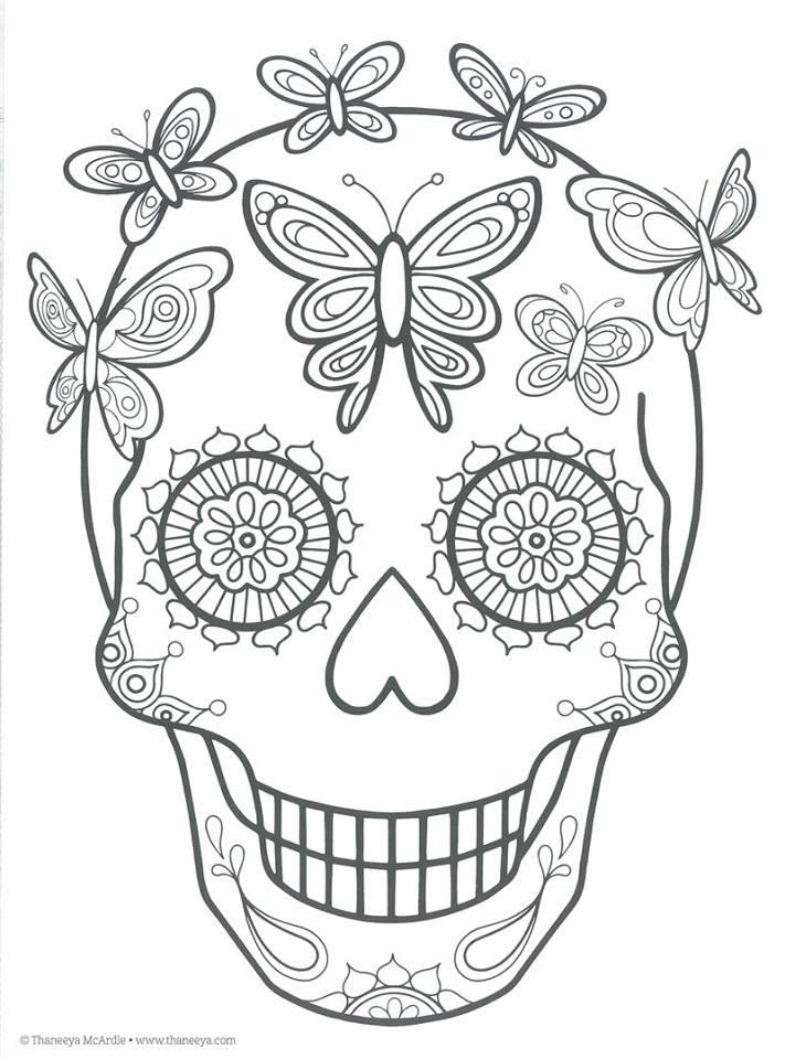 Dibujos Para Colorear El Da De Los Muertos 27