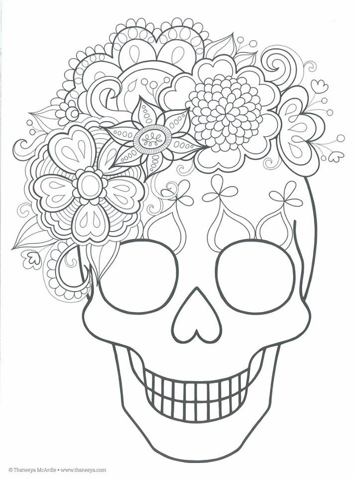 Dibujos para colorear: Dìa de Muertos