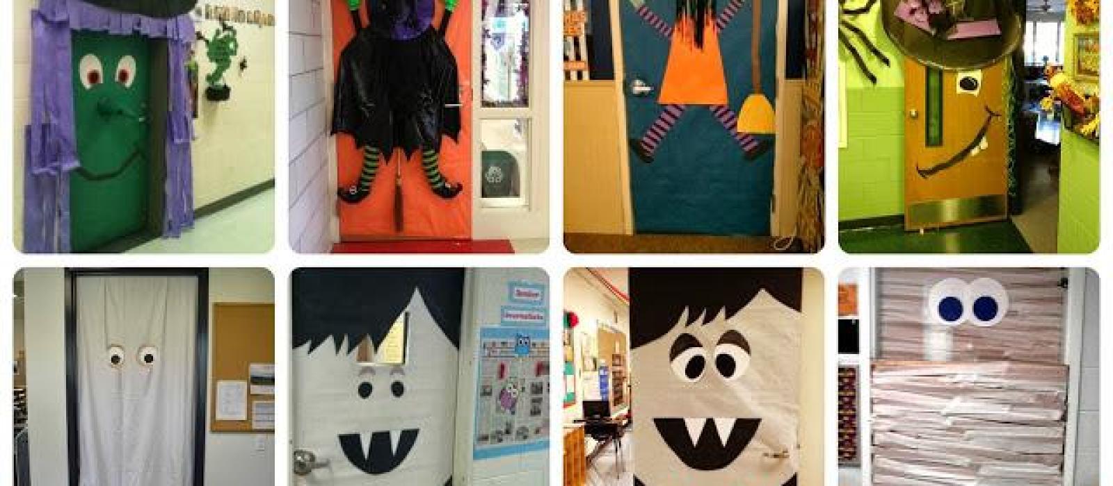Halloween puertas 16 imagenes educativas for Decoracion para puertas halloween