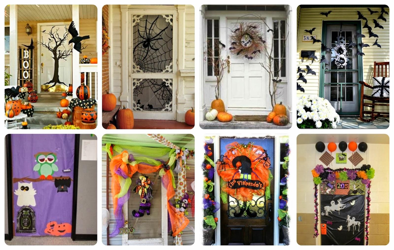 S per colecci n mas de 50 puertas para decorar y tu clase for Decoracion de la puerta de entrada