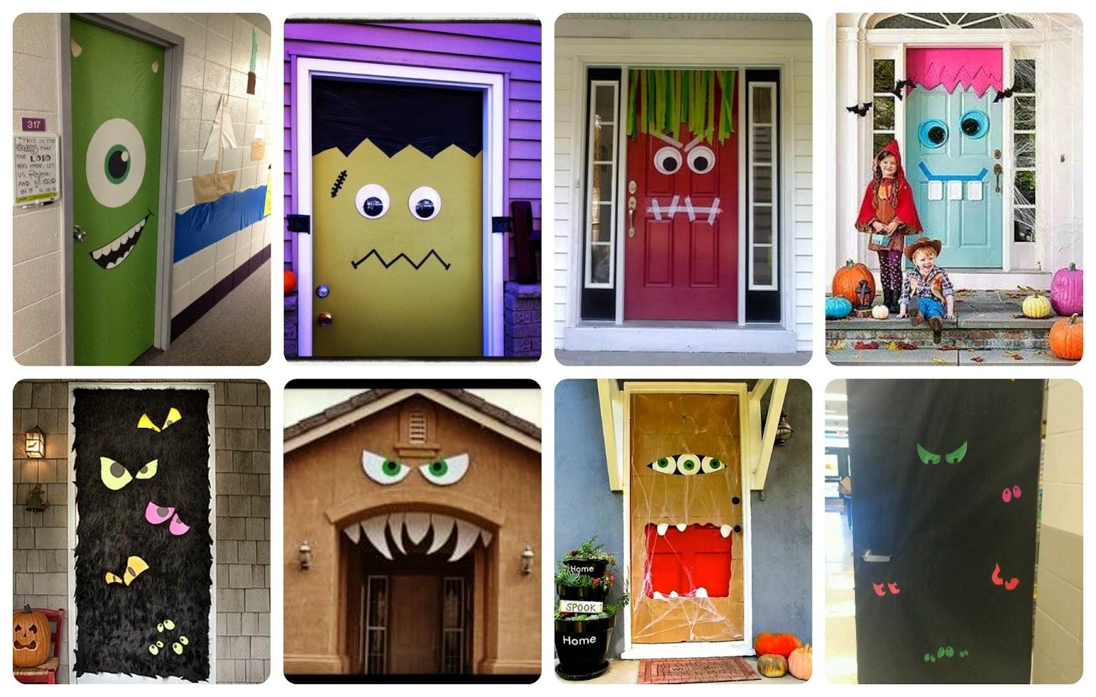 Halloween puertas 18 imagenes educativas for Como decorar una puerta