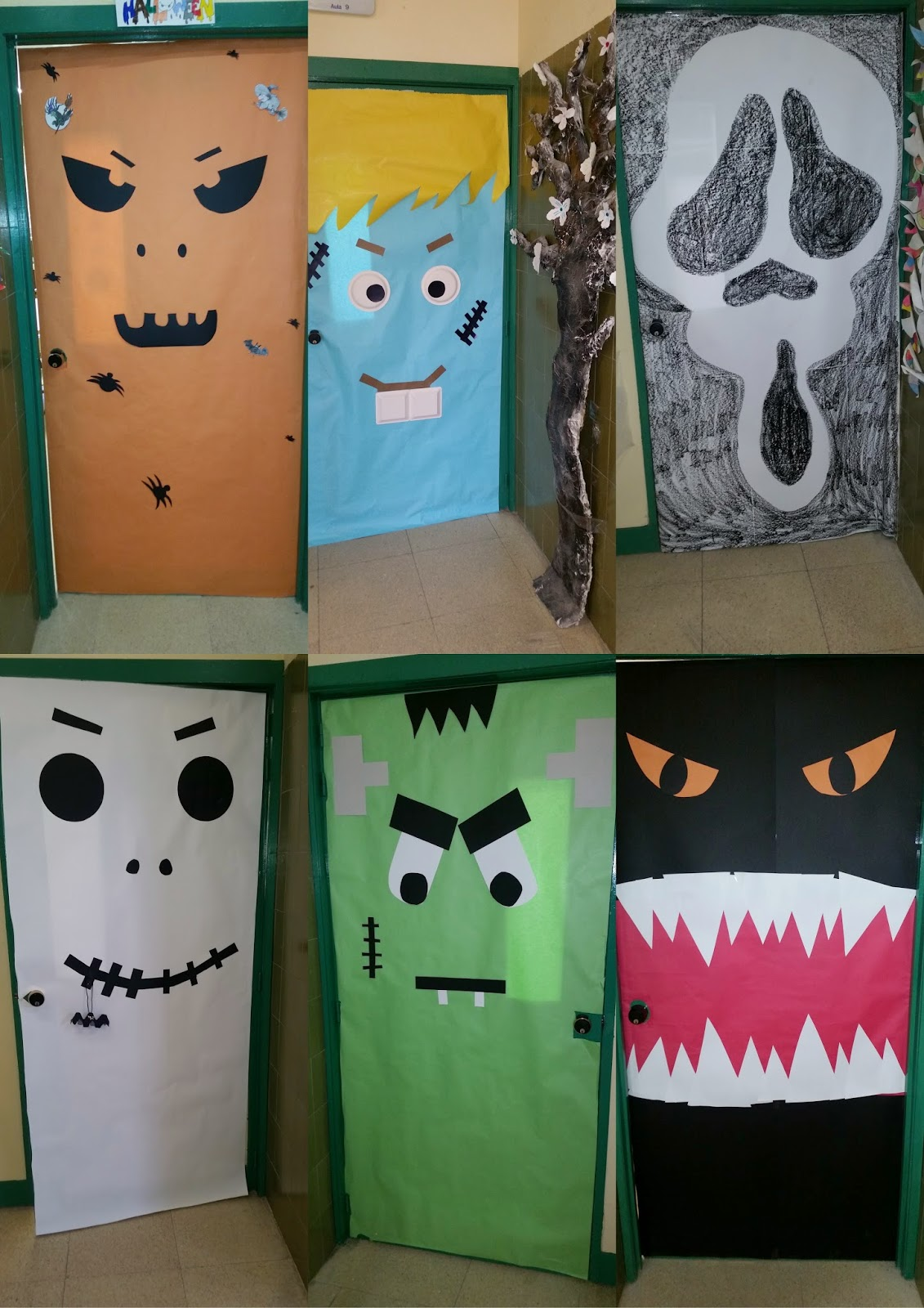 Halloween puertas 21 imagenes educativas for Puertas de halloween decoradas